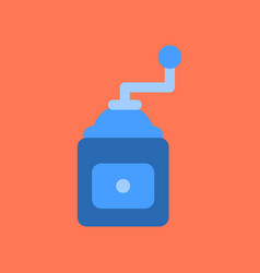 flat icon on background coffee mill grinder vector image