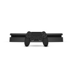 Game console with joystick isolated on white vector