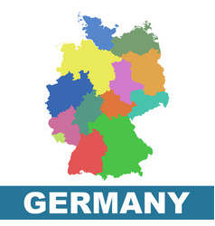 germany map with federal states flat vector image