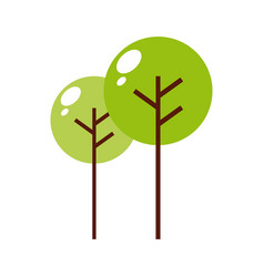 Green trees icon vector
