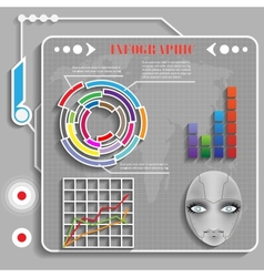 Grey futuristic infographics vector