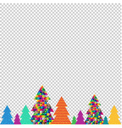 happy christmas tree transparent background vector image