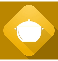 icon of Saucepan with a long shadow vector image