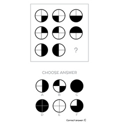 IQ test Choose answer vector image