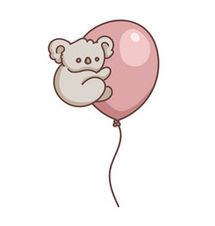 koala babear on party balloon vector image