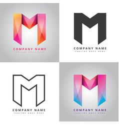 M company design logo vector