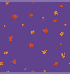 maple and oak leaf pattern seamless color vector image