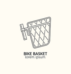 modern linear style bicycle accessories logotype vector image