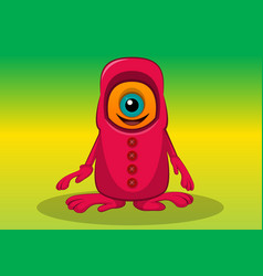 One-eyed creature vector