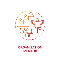 Organization mentor concept icon vector