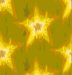Pattern batik ikat green and yellow vector