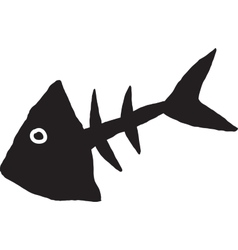 Primitive fish skeleton vector
