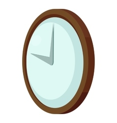 Round wall clock icon cartoon style vector