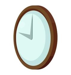 Round wall clock icon cartoon style vector
