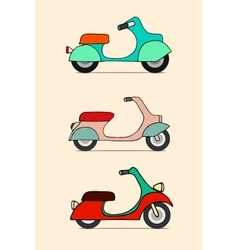 Scooter retro transport vintage motorcycle vector image