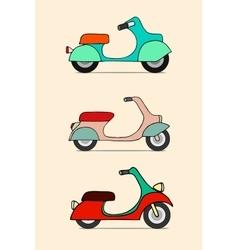 Scooter retro transport vintage motorcycle vector