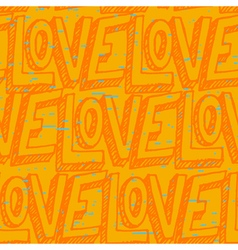 Seamless pop art pattern repeating doodle love vector