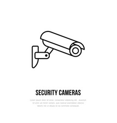 security camera flat icon safety system vector image