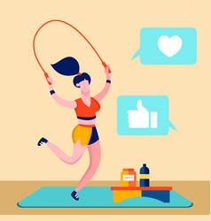 sport blog fitness online channel vector image