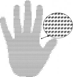 Text hand vector