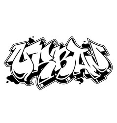 Urban word in graffiti style text vector