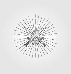 vintage sword hipster symbol design vector image