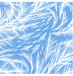 winter frozen window seamless pattern vector image