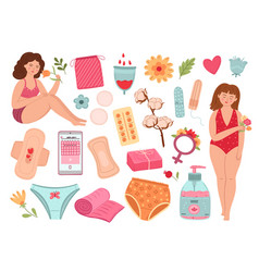 Women period isolated female woman menstrual vector