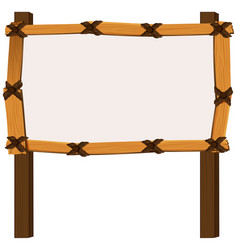 wooden frame on white background vector image