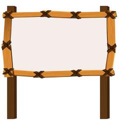 wooden frame on white background vector image