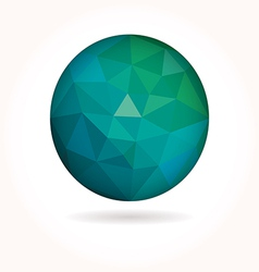 Low poly circle vector image vector image