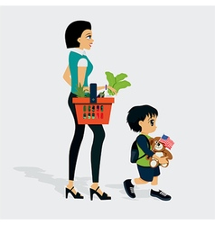 market Shopping vector image