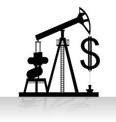 Production and sale of oil vector image vector image