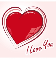 declaration of love vector image vector image