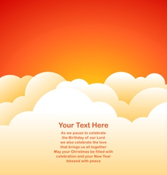 Evening sky background vector image vector image