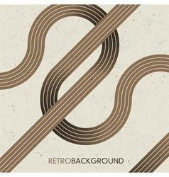 intersection retro lines vector image vector image