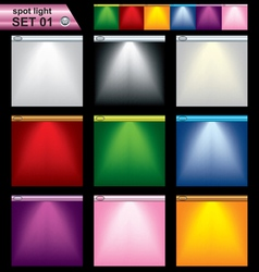 light frame set vector image vector image