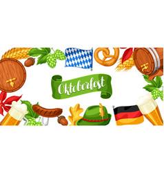 oktoberfest beer festival banner or poster for vector image vector image