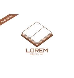Open book template logo icon Back to school vector image