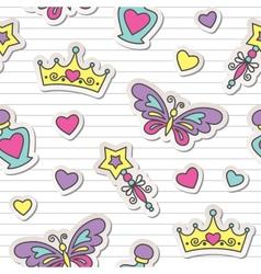 princess pattern vector image