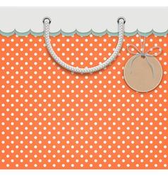 retro paper bag vector image vector image