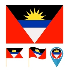 Antigua and Barbudacountry flag vector image