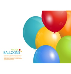 colourful balloon background landscape vector image