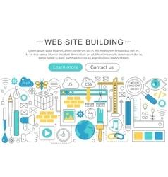 elegant thin line flat modern website vector image vector image