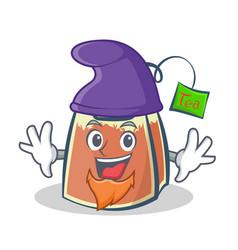 Elf tea bag character cartoon vector
