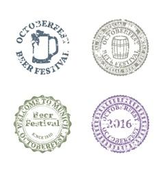 Emblem Oktoberfest Set vector image