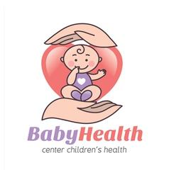 Logo baby health vector image