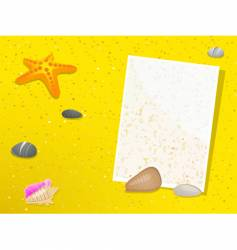 summer beach note vector image vector image