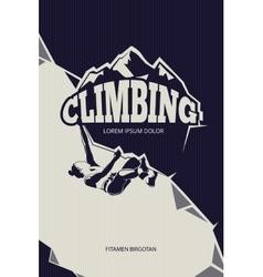 Climbing trekking hiking mountaineering vector image vector image