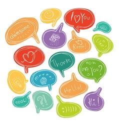Colorful bubble speech vector image